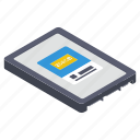 computer hardware, electronic component, hard drive, solid state drive, ssd drive, storage device icon