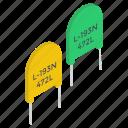 circuit components, computer capacitors, electronic components, led capacitors, power capacitors, standard ceramic capacitor icon