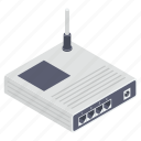 access router, modem, network router, wifi router, wireless broadband icon