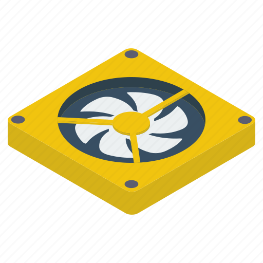 case fan, computer cooler, computer fan, computer hardware, pc component, processor fan icon
