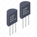 capacitor, circuits, electronic components, electronic transistors, memory chip, transistors icon