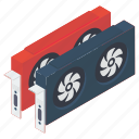 computer expansion card, display adapter, display card, graphic card, video card device icon