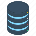 data center, data storage, database backup, database storage, storage backup icon