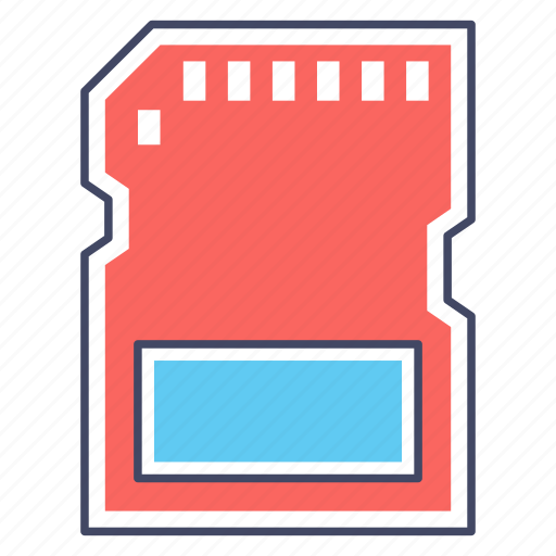 memory card, memory chip, memory flash, micro sd, sd card icon