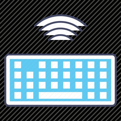 computer hardware, input device, keyboard, typing gadget, wireless keyboard icon