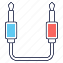 data cable, jack cable, jack connector, jack cord, jack plug icon