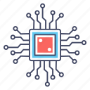 chip, circuit, hardware, hardware chip, microchip icon