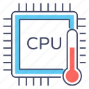computer chip, cpu chip, cpu temperature, microchip, microprocessor icon