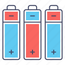 batteries, battery level, electric batteries, phone batteries icon