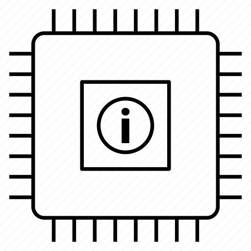 chipset, computer chip, computer processor, cpu chip, microchip, microprocessor icon