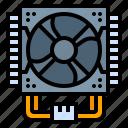 computer, cooler, fan, hardware, mainboard
