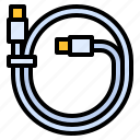 c, cable, hardware, type, usb icon