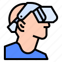 gaming, hardware, headset, vision, vr icon