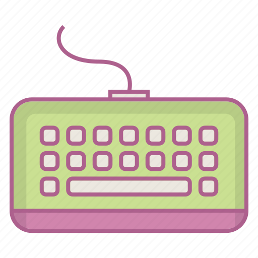 computer, hardware, keyboard, space, type icon