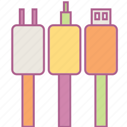 cable, computer, earphone, hardware, jack, microphone, usb icon