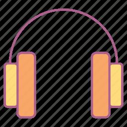computer, earphone, hardware, headset, mp3, sound icon