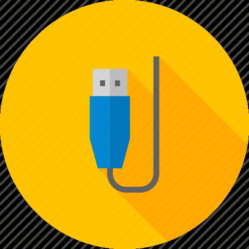connector, cord, gadget, plug, usb plug, wire icon