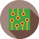 board, capacitor, chip, circuit, ic, microchip, resistor icon