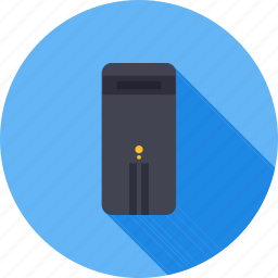 computer, cpu, pc, processing unit, processor, system, tower pc icon