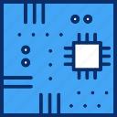 computer, hardware, motherboard, server, storage icon