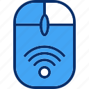 pointer, wireless, mouse, cursor, connection, signal icon
