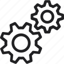configuration, gear, mechanics, working icon icon