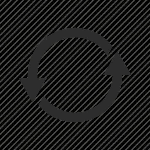 arrows, circle, computer, refresh, reload, repeat, revolve icon