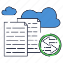 cloud, copy, files, internet, online, storage, sync icon