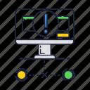 computer, display, error, internet, mark icon