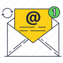 communication, email, envelope, internet, letter, mail icon