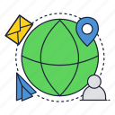comminication, global, internet, mobile, network, online icon