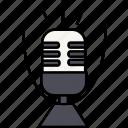 microphone, sound, speak icon