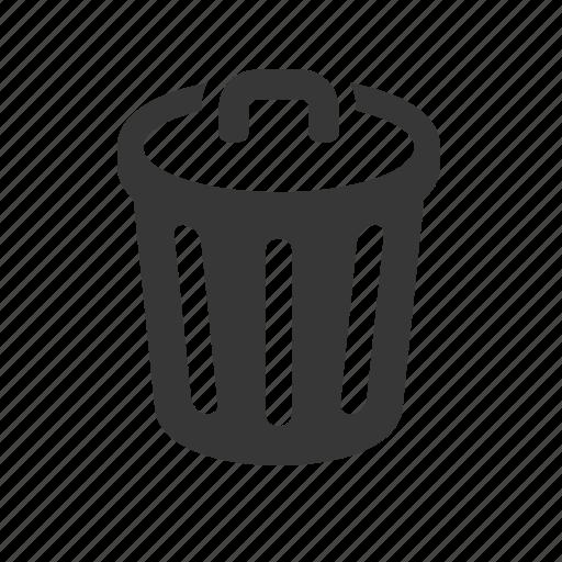computer network, garbage, garbage bin, raw, simple, tech, technology, trash, trash bin, trash can, waste bin icon