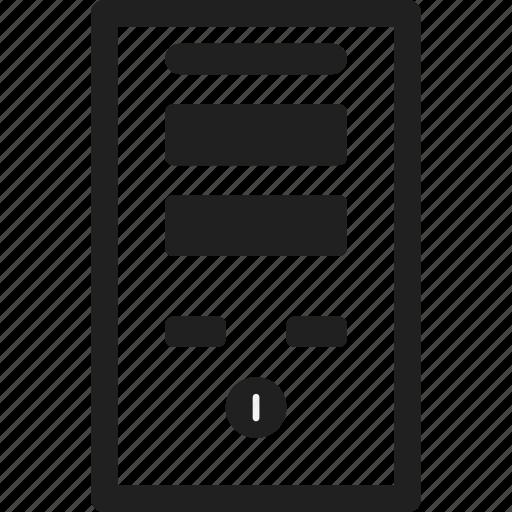 computer, design, line, part, web icon