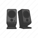 components, computer, computer peripheral, multimedia speaker, peripheral, speaker icon