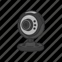 camera, computer camera, peripherals, picture, video camera, webcam icon