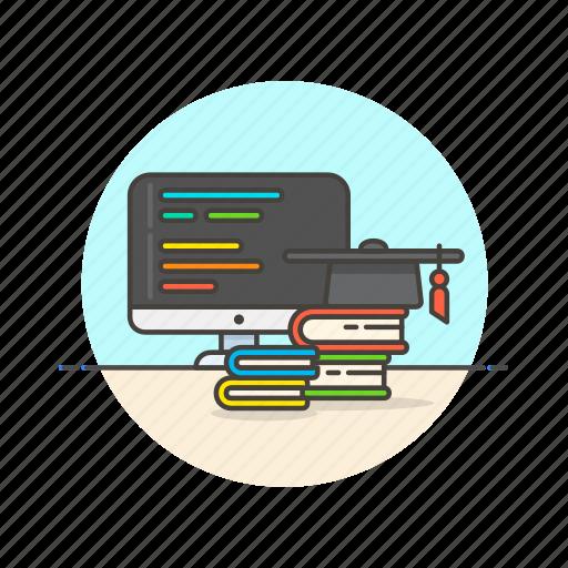 bachelor, computer, device, internet, programming, school, technology icon