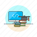 bachelor, computer, html, programming icon