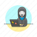 computer, fawkes, guy, hacker, mask, programming icon