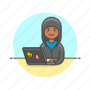 computer, device, hacker, internet, man, programming, technology icon