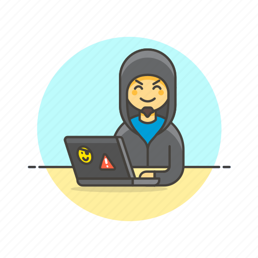 Computer, hacker, programming, device, internet, man, technology icon - Download on Iconfinder
