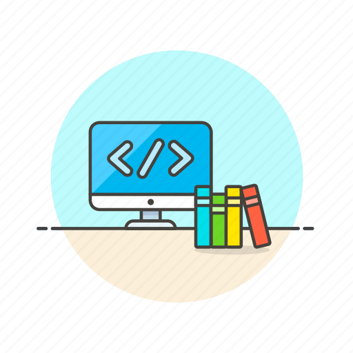 book, code, computer, device, html, programming, technology icon