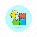 computer, drag, drop, jigsaw, piece, programming, puzzle icon
