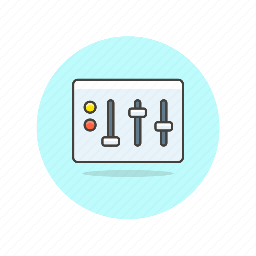 computer, device, equalizer, programming, setting, technology icon