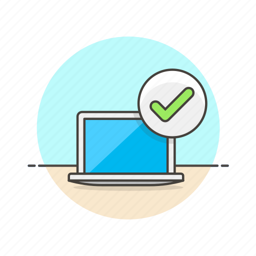 approve, check, computer, programming icon