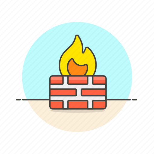 computer, device, firewall, internet, programming, protect, technology icon