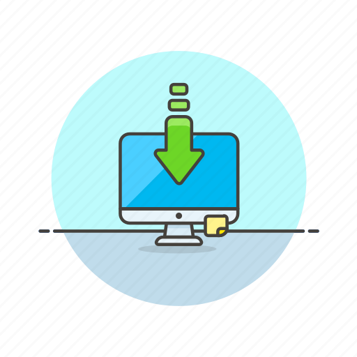 computer, device, download, imac, internet, monitor, programming, technology icon