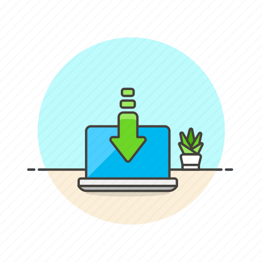 computer, device, download, internet, macbook, programming, technology icon