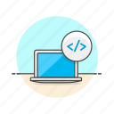 computer, html, macbook, programming icon