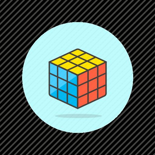 computer, cube, fit, genius, programming, rubik, smart icon